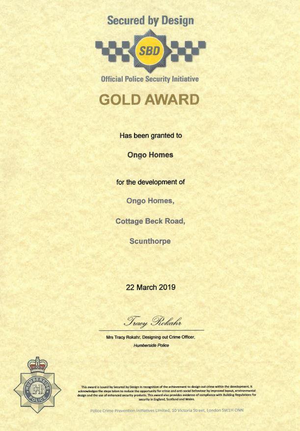 secure by design gold cert